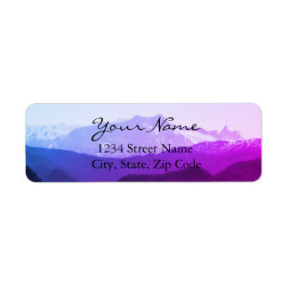 Purple Mountains Address Labels