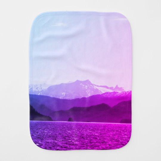 Purple Mountains Burp Cloth