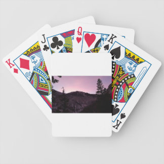 Purple mountains majesty bicycle playing cards