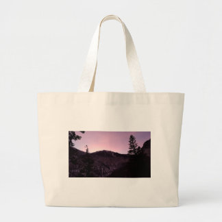 Purple mountains majesty large tote bag