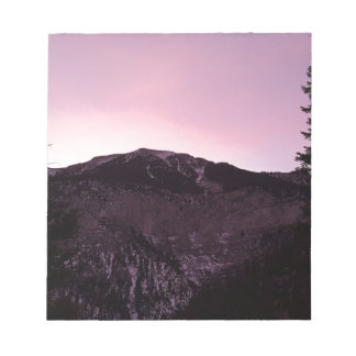 Purple mountains majesty notepad