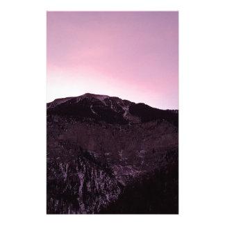 Purple mountains majesty stationery