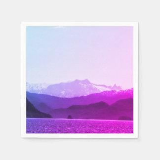 Purple Mountains Napkins Disposable Napkins