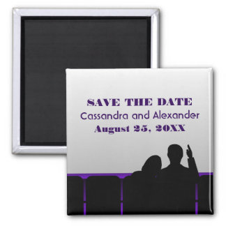 Purple Movie Theater Save the Date Magnet