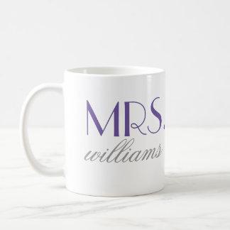 Purple Mrs. Coffee Mug   Bride-to-Be Gift