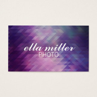 Purple Multicolored Geometric Business Card