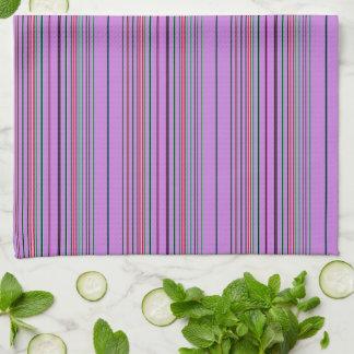 Purple Multicolored Stripes Kitchen Towel