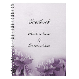 Purple Mums Notebook - Guestbook