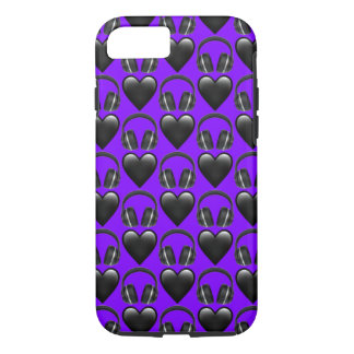Purple Music Emoji iPhone 7 Phone Case