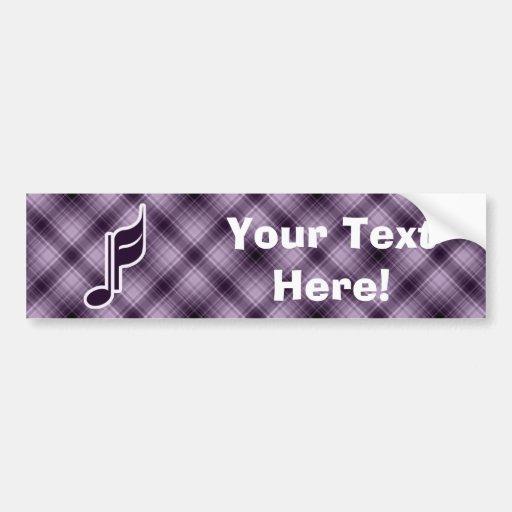 Purple Music Note Bumper Stickers
