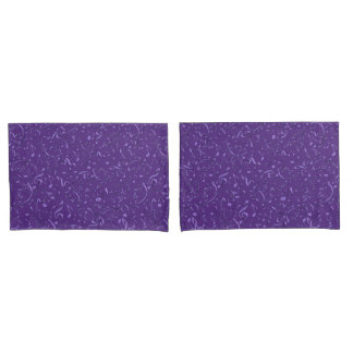 Purple Music Notes Pillowcases