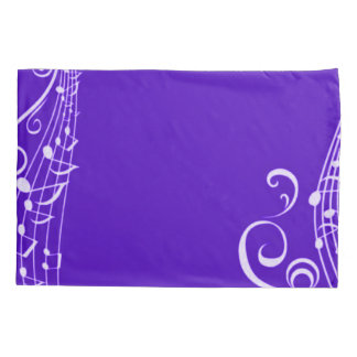 Purple Musical Notes Inspiration Pillowcase
