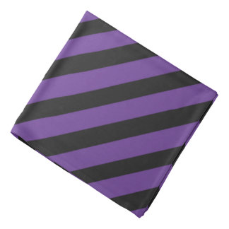 Purple 'n Black Pirate Stripes Bandana