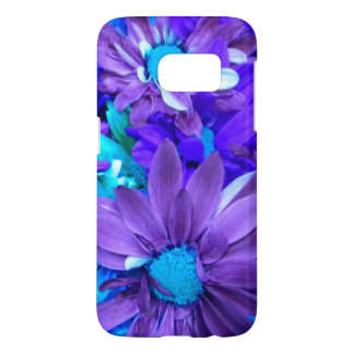 Purple N Turquoise Bouquet Galaxy S7 Case