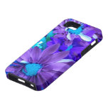 Purple N Turquoise Bouquet iPhone 5 Case