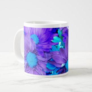 Purple N Turquoise Daisies Mugs