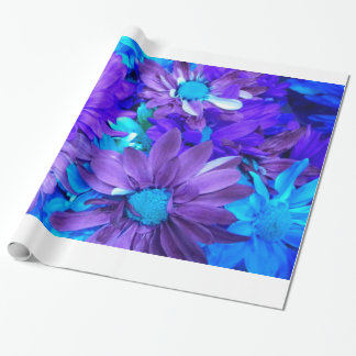 Purple N Turquoise Daisy Bouquet Wrapping Paper