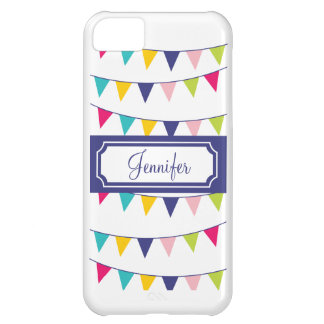 Purple Name Carnival Flags Cute iPhone Case