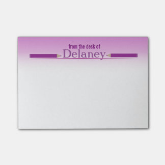 Purple Name Showcase Post-it Notes