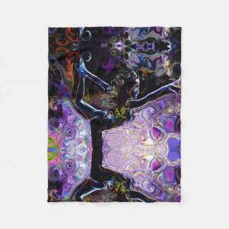 Purple Natarajasana Lord of The Dance Yoga Deprise Fleece Blanket