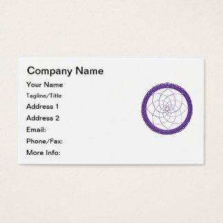 Purple Native American Dreamcatcher Business Card