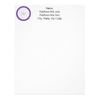 Purple Native American Dreamcatcher Letterhead