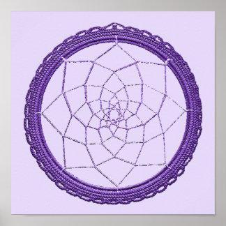 Purple Native American Dreamcatcher Poster