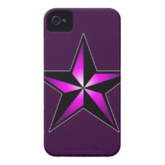 Purple Nautical Star iPhone 4 Case
