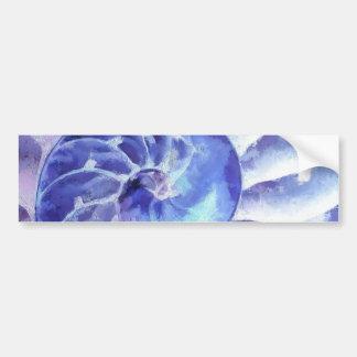 Purple Nautilus Art Bumper Sticker