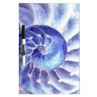 Purple Nautilus Art Dry Erase White Board