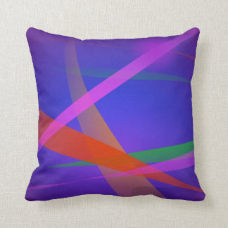 Purple Navy Crossing Colorful Lights Pillow