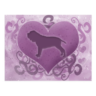 Purple Neapolitan Mastiff Valentine Postcard