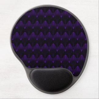 Purple Neon Alien Head Pattern Gel Mouse Pad