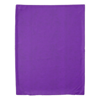 Purple Neon Color Bright Velvet Look Duvet Cover