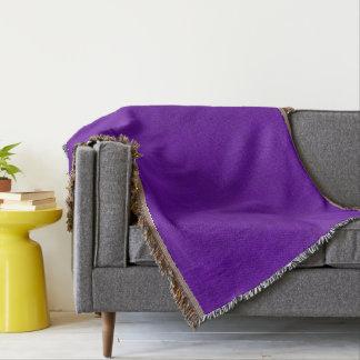 Purple Neon Color Bright Velvet Look Throw Blanket