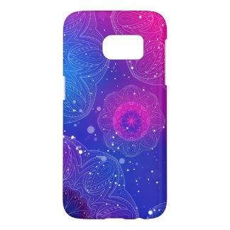 Purple neon mandala pattern samsung galaxy s7 case