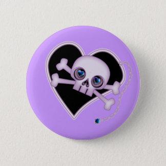 Purple Neon Skull 2 Inch Round Button