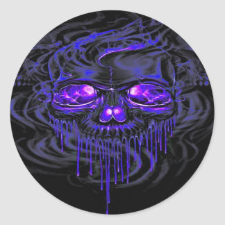 Purple Nerpul Skeletons Classic Round Sticker