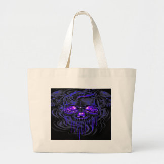 Purple Nerpul Skeletons Large Tote Bag