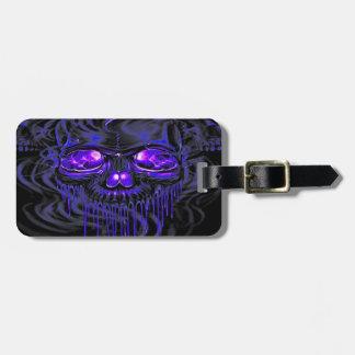 Purple Nerpul Skeletons Luggage Tag