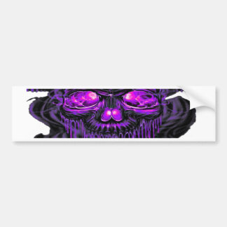 Purple Nerpul Skeletons PNG Bumper Sticker