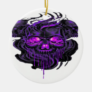 Purple Nerpul Skeletons PNG Ceramic Ornament