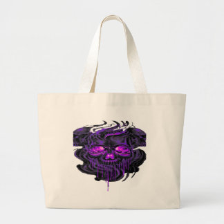 Purple Nerpul Skeletons PNG Large Tote Bag