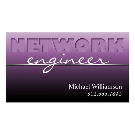 Purple Network Technology Sleek Business Cards