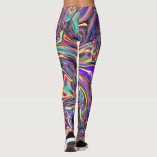 Purple Neural Abstraction Art Leggings