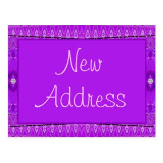 purple new address postcard