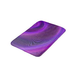 Purple night storm bath mat