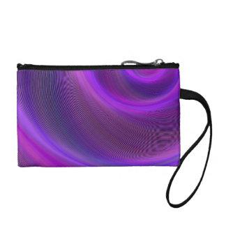 Purple night storm coin purse