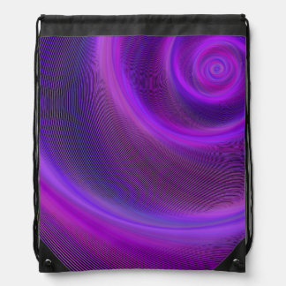 Purple night storm drawstring bag