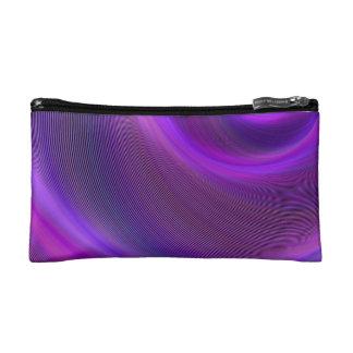 Purple night storm makeup bags